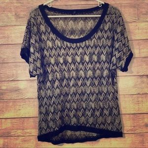 Black and Silver Top from Maurices - S